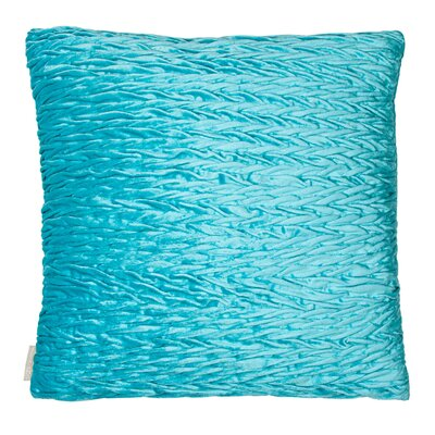 Rouching Velvet Throw Pillow Color: Aqua