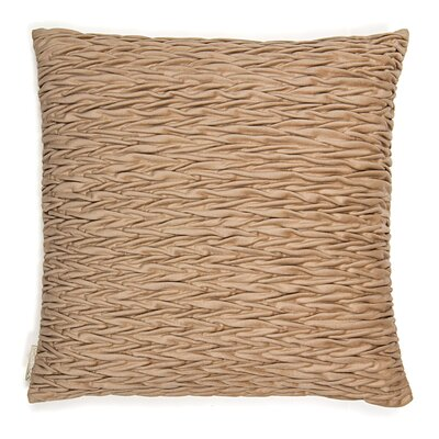 Rouching Velvet Throw Pillow Color: Cappuccino