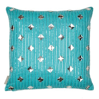 Square Crystals with Sequin Drizzle Linen Throw Pillow