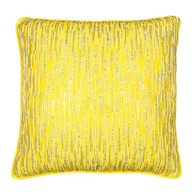 Diamond Drizzle Throw Pillow Color: Yellow
