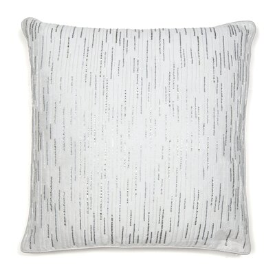 Diamond Drizzle Throw Pillow Color: White