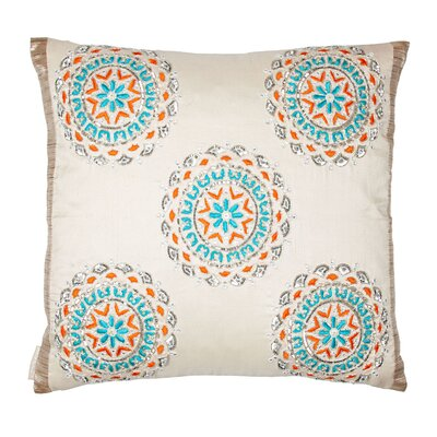 Medallion Silk Throw Pillow