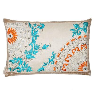 Banarasi Ruffle Silk Lumbar Pillow