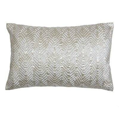 Embroidered Leaves Lumbar Pillow