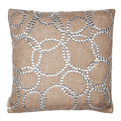 Dazzle Style Mirror Throw Pillow Color: Jute