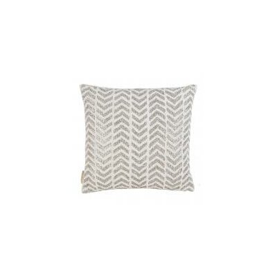 Herringbone Pearl and Crystals Embroidered Throw Pillow