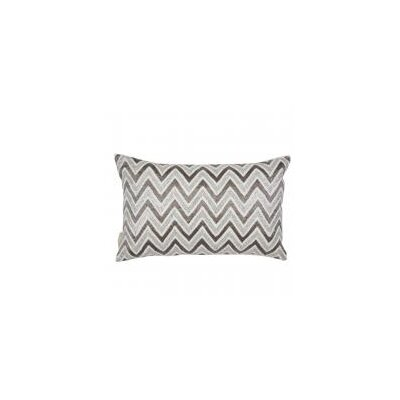 Zig Zag Beads and Sequin Work Lumbar Pillow