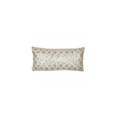 Embellished with Embroidery Mirror Silk Lumbar Pillow