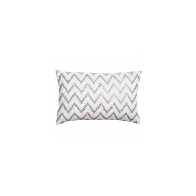 Zig Zag Crystals and Beads Lumbar Pillow
