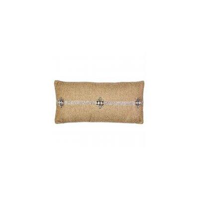 Jute with Diamond Necklace Lumbar Pillow