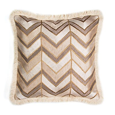 Herringbone Embroidered Throw Pillow
