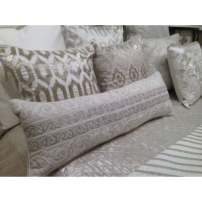 Shimmer Thread Embroidery Center Lumbar Pillow