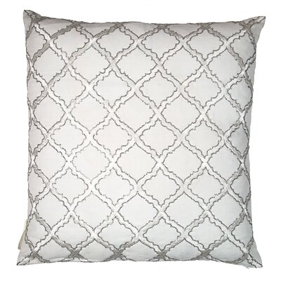 Morroccan Trellis Shimmer Pillow Cover