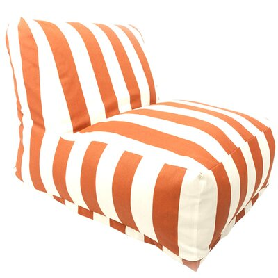 Stripes Bean Bag Lounger Upholstery: Burnt Orange