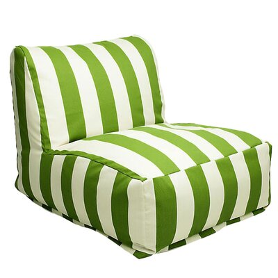 Stripes Bean Bag Lounger Upholstery: Sage