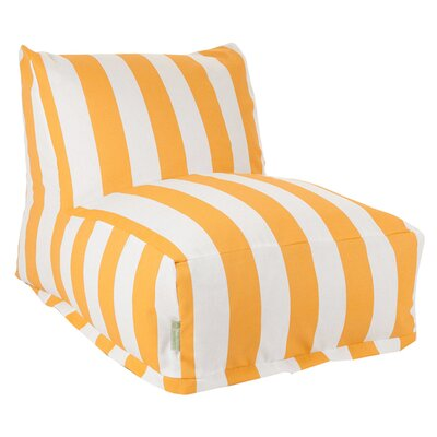 Stripes Bean Bag Lounger Upholstery: Yellow