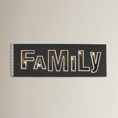 Shinning LED Family Sign Wall Décor