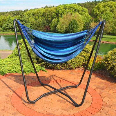 Krystal 2-Point Chair Swing and Space-Saving Hanging Cotton Chair Hammock Color: Beach Oasis
