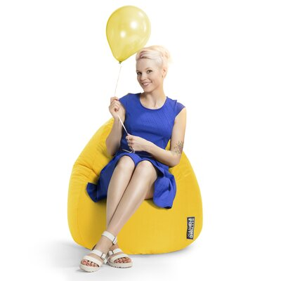Microfiber Fabric Bean Bag Chair Upholstery: Yellow