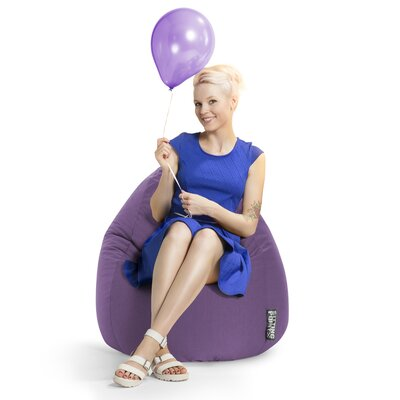 Microfiber Fabric Bean Bag Chair Upholstery: Purple