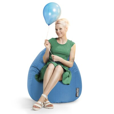 Microfiber Fabric Bean Bag Chair Upholstery: Blue