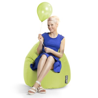 Microfiber Fabric Bean Bag Chair Upholstery: Lime
