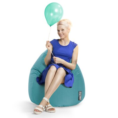Microfiber Fabric Bean Bag Chair Upholstery: Turquoise
