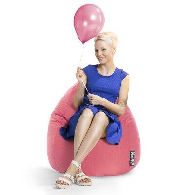 Microfiber Fabric Bean Bag Chair Upholstery: Pink