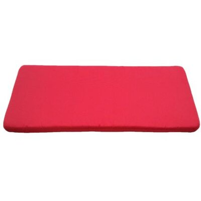Clingo Outdoor Bench Cushion Fabric: Red