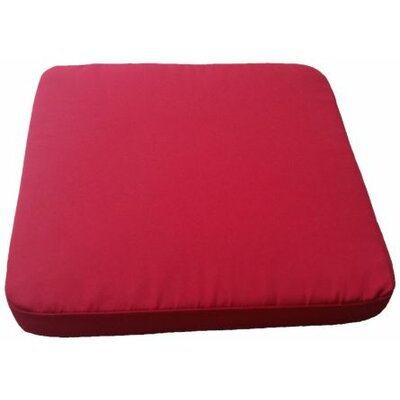 Clingo Outdoor Dining Chair Cushion Fabric: Red
