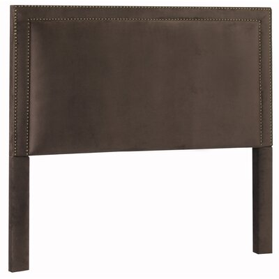 Hayley Upholstered Panel Headboard Size: King, Upholstery: Night Party Chocolate