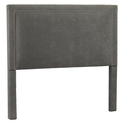 Hayley Upholstered Panel Headboard Size: King, Upholstery: Avignon Charcoal / Silver