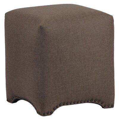 Emma Upholstered Nailhead Cube Ottoman Upholstery: Lisburn Rattan