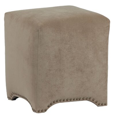 Emma Upholstered Nailhead Cube Ottoman Upholstery: Donna Coffee