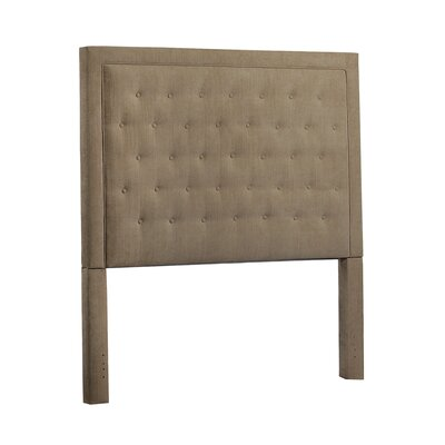 Mcalpin Queen Upholstered Panel Headboard Upholstery: Velvet Brooke Pecan
