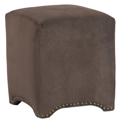 Emma Upholstered Nailhead Cube Ottoman Upholstery: Night Party Chocolate