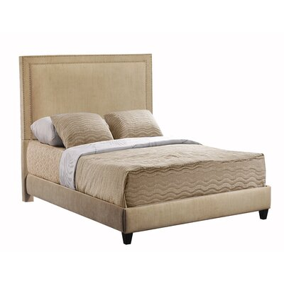 Hayley Upholstered Panel Bed Size: King, Color: Brooke Pecan