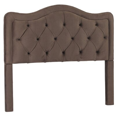 Bromberg Upholstered Panel Headboard Size: King, Upholstery: Night Party Chocolate