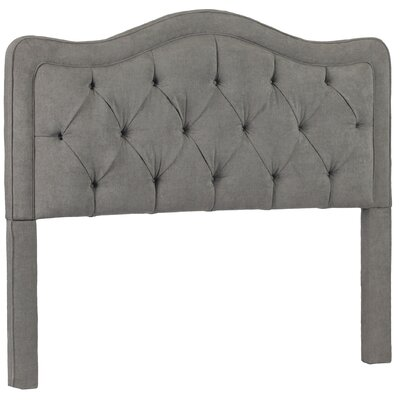 Bromberg Upholstered Panel Headboard Upholstery: Avigon Charcoal, Size: King
