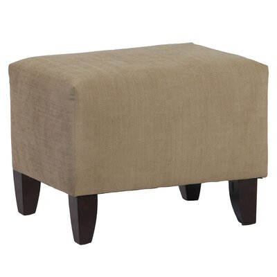 Zoe Upholstered Cube Ottoman Upholstery Color: Brooke Pecan