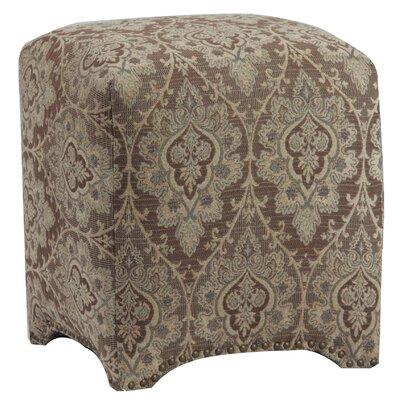 Emma Upholstered Nailhead Cube Ottoman Upholstery: Brandenton Dusk