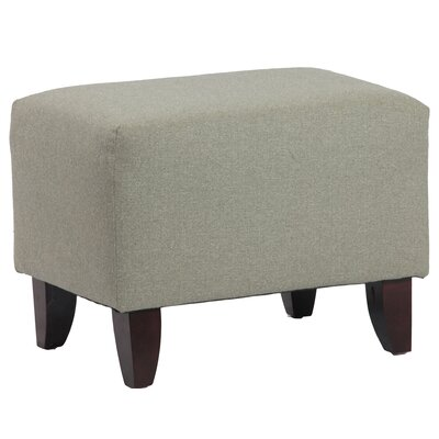 Zoe Upholstered Cube Ottoman Upholstery Color: Walden Mineral
