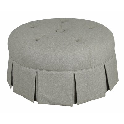 Ava Round Pleated Upholstered Ottoman Upholstery: Gray