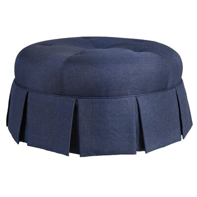 Ava Round Pleated Upholstered Ottoman Upholstery: Urban Graphite