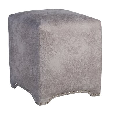 Emma Upholstered Nailhead Cube Ottoman Upholstery: Premier Dove