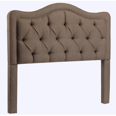 Bromberg Upholstered Panel Headboard Upholstery: Brown, Size: King