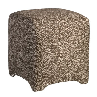 Emma Upholstered Nailhead Cube Ottoman Upholstery: Wold One Chocolate