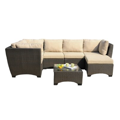 Alyssa All-Weather Casual Deep Seating Group with Cushion