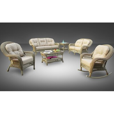 Cana All-Weather Casual 4 Piece Deep Seating Group with Cushion