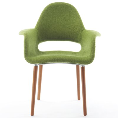 Conrad Arm Chair Finish: Green